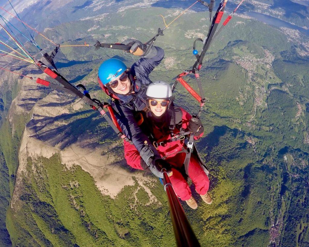 Volo tandem in parapendio al Monte Lema
