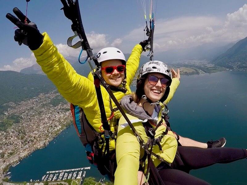 Volare in parapendio tandem in Ticino